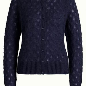 King Louie: Cardi Roundneck Vallina Blue
