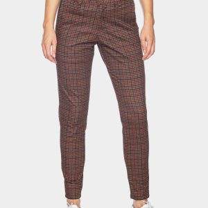 ATO Berlin: Chino broek ruit Hose Bull CO/EL 09/029 BRN/BRD