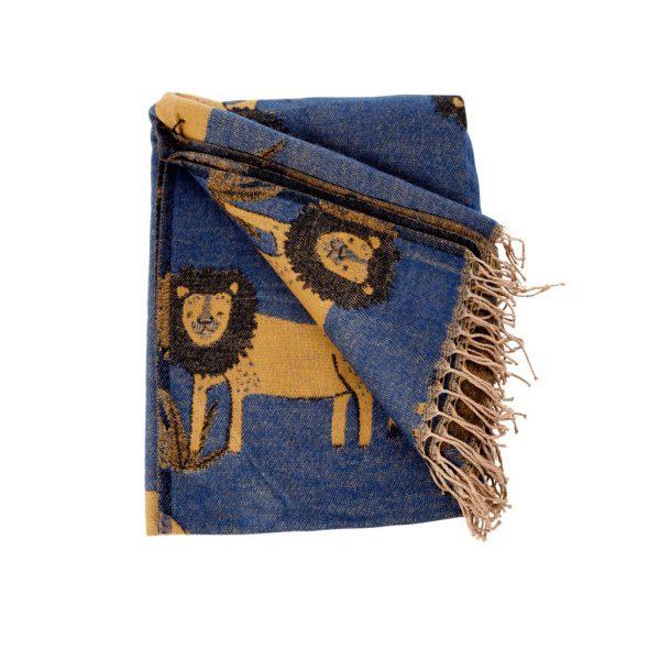 Lion Blanket - Jungle Animals Print