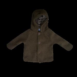 Super schattig, khaki teddy jasje met knopen. 100% polyester