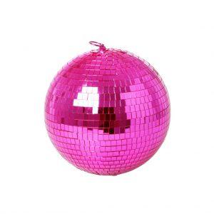 DISCO-MI RICE: Disco bol roze medium WAUW! Roze discobol van RICE! Doorsnede 20 cm