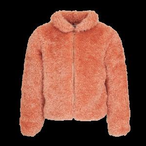 Mini Rebels: Jas fake fur pink DOXY-SG62-A Heerlijk zacht fake fur jasje van Mini Rebels. Mooie stippen voering en sluit met gouden rits. Dit is geen dikke winterjas. Daarvoor is ie niet genoeg gevoerd. 100% polyester