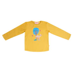 Someone: Shirt RIBBYBA oker Shirtje met schattige opdruk van een hertje. 95% katoen | 5% elastan