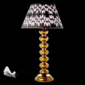 RICE: Grote metalen gouden lamp LAMP-BAL