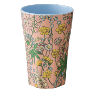 RICE: Tall Melamine Cup - Lupin Print MELCU-LLUCO