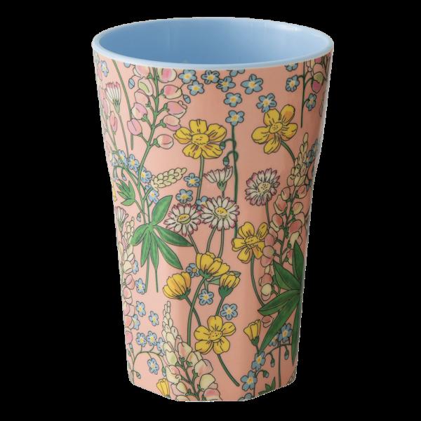 RICE: Tall Melamine Cup - Lupin Print MELCU-LLUCO