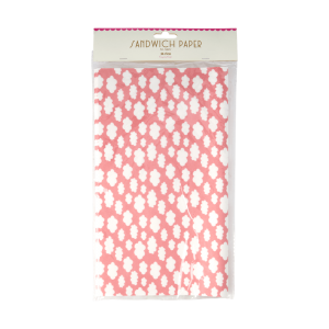 RICE: SANDWICH PAPER - PINK - CLOUD PRINT