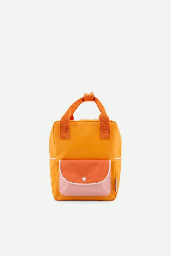 Sticky Lemon: Kleine rugzak | wanderer | sunny yellow + carrot orange + candy pink