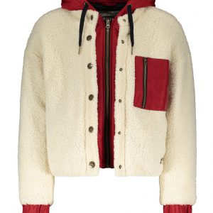 Street Called Madison: Teddy winterjas Sporty Furry offwhite/rood