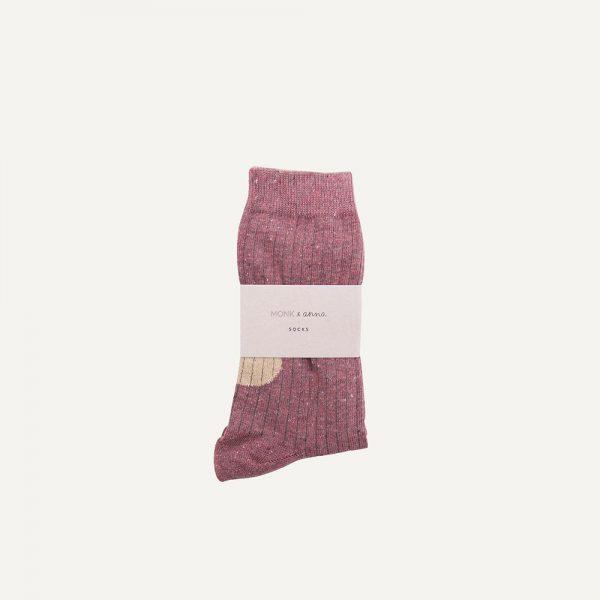 Monk & Anna: Sokken   Burgundy