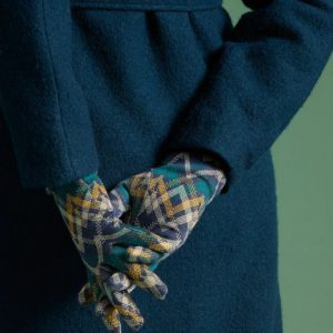 King Louie: Handschoenen Gusto Peacoat Blue Handschoenen Knoopdetail aan de onderkant Knit Stretchstof Jacquard Samenstelling 100% acryl