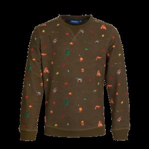 Sweater met all over print in thema kamperen. Super leuk! Gemaakt van dunne jogging. 95% katoen | 5% elastan