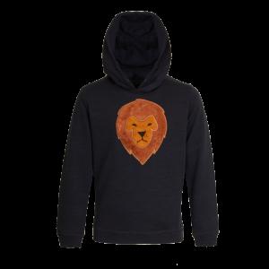 Heerlijke sweater met capuchon. Van binnen heerlijk zacht en op de voorkant een prachtig, zachte leeuw. 80% katoen | 20% polyester