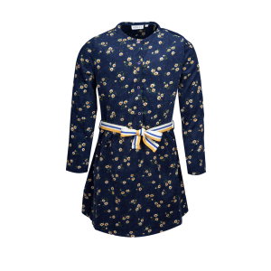 Mini Rebels: Jurk babyrib NAVY