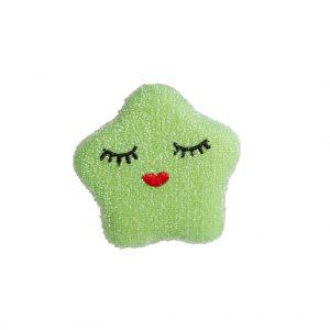 SPONGE-STAR RICE: Ster schuurspons groen