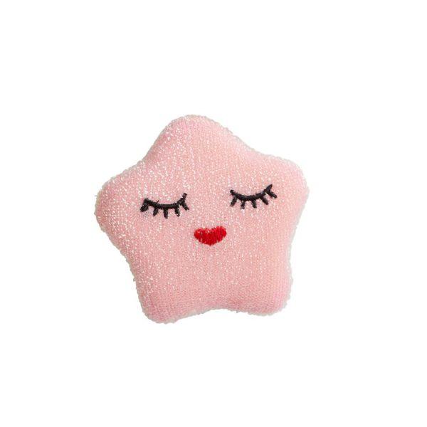 SPONGE-STAR RICE: Ster schuurspons roze