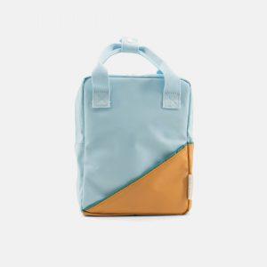 Sticky Lemon: Kleine rugzak diagonal | licht blauw | caramel fudge