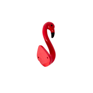 RICE: Haak Flamingo Metaal rood