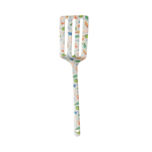 RICE: MELAMINE SPATULA - SOFT BLUE - FISH