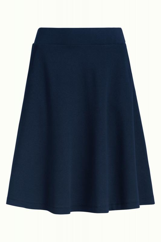 King Louie: Sofia Skirt Milano Crepe Sapphire Blue
