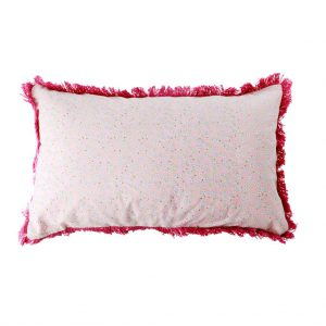 RICE: Rectangular Cotton Cushion - Pink