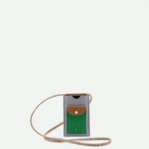 Sticky Lemon: Phone pouch | xl | steel blue + brassy green + apple green