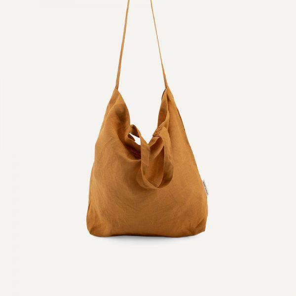 Monk & Anna: Baya washed linen shopper • honey