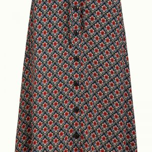 King Louie: uno Button Skirt Palmer