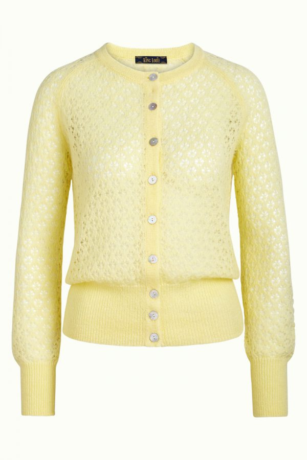 King Louie: Cardi Roundneck Fluffy Pastel Yellow