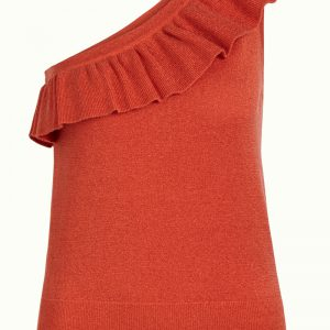 King Louie: Ruffle Disco Top Lapis Popsicle Orange