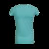 Aqua kleurig shirt van Someone met geborduurde bloemen en een ronde hals.