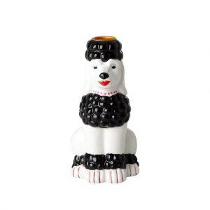RICE: Poedel Keramische kandelaar - Zwart - Choose Happy