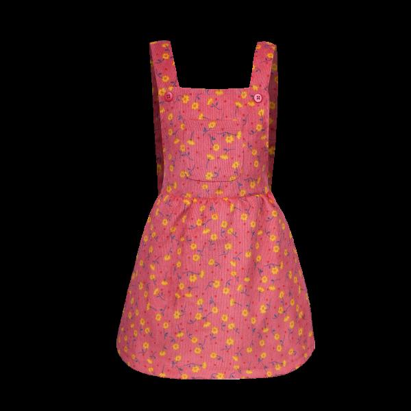 Roze tuinjurkje van SOMEONE. Schattige bloemen print, gemaakt van heerlijk zachte babyrib.