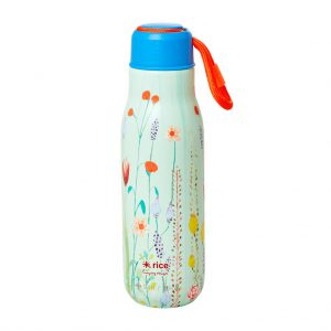Rice: Thermos fles - Sage Green - Summer Flowers Print