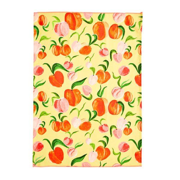 Rice: Katoenen theedoek - Apricot - Peach