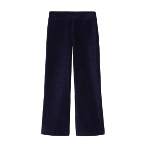 Petit Louie: Rib flared pants velours Blauw