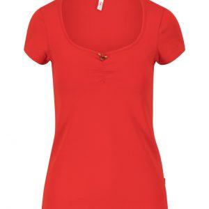 Blutsgeschwister: Logo shortsleeve feminin - strong red