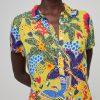Surkana: Maxi jurk met kraagje en bloemen