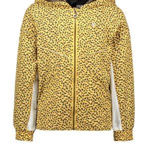 Like FLO trendy zomerjas in panter print. Super stoer door het gebruik van de animal print. Door de capuchon en de geweven stof die tegen een regenbui kan is dit een ideale zomerjas.