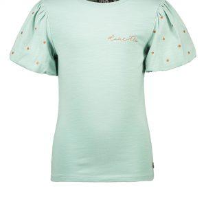 Like FLO: Shirt mint groen pofmouw