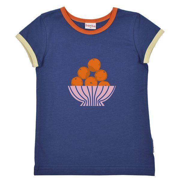Ba*Ba Kidswear: Shirt FRUITGIRL blauw