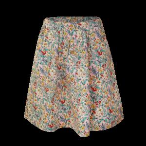 """Super leuke maxi rok met een all-over print van bloemen. Aan de voorkan een rijtje """"fake"""" knopen. 100% katoen"""