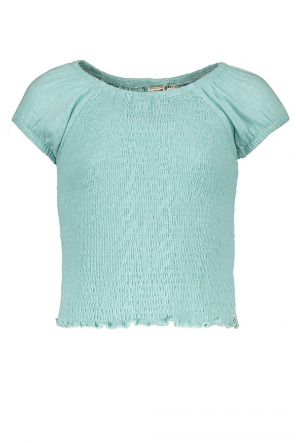 Street Called Madison: Luna smock top CINDY aqua