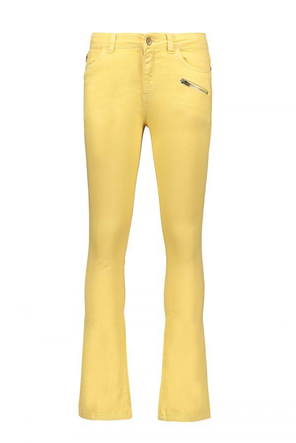 Street Called Madison: Luna denim flared pants MISS LUNA BELL yellow
