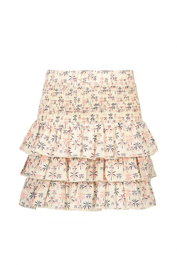 Street Called Madison: Luna voile palm tree smock skirt LOLLYPOP