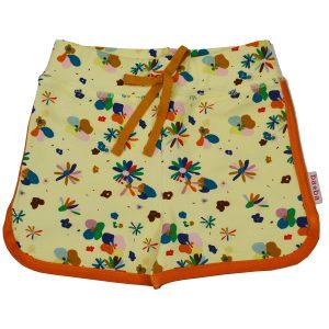 Super fijn, kort broekje van Ba*Ba Kidswear. Gemakkelijk te combineren all-over print van bloemen. 92% BIO katoen | 8% elastan
