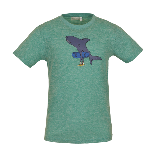 Mini Rebels: T-shirt STAY groen