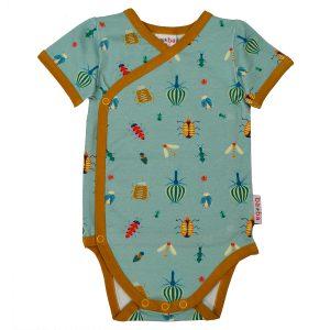 Ba*Ba Kidswear: Romper BEESTJES blauw WRAPBOSS_HABE