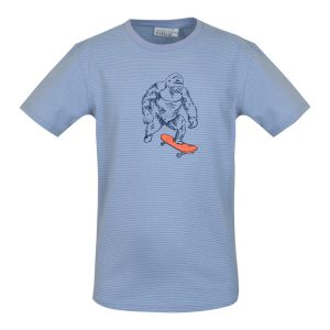 Mini Rebels: T-Shirt STAY streepjes Mini Rebels: T-Shirt STAY-SB-02-I/LIGHTBLUE