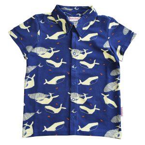 Ba*Ba Kidswear: Blouse Whales BOYSSSS/WHAL/S21